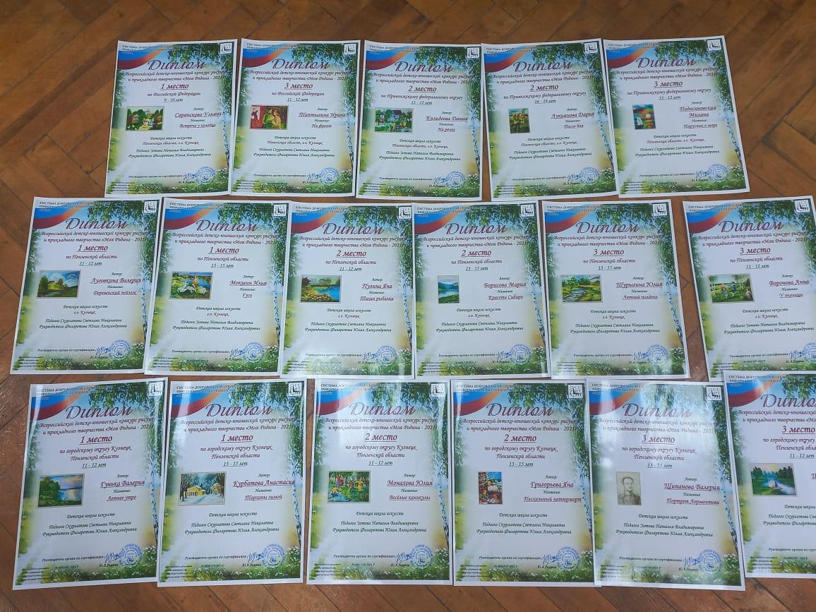 Обучающиеся Детской школы искусств– победители и призеры Всероссийских конкурсов