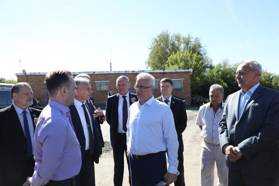 Губернатор Пензенской области посетил строительную площадку второй станции обезжелезивания воды в Кузнецке