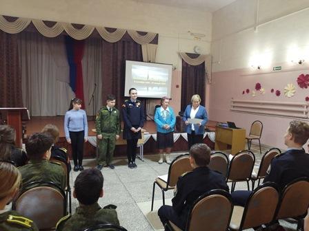 «Дети войны» побывали  в гостях у школьников